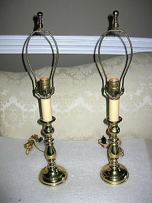 """Choice Virginia Metalcrafters """"tulip"""" Candlestick Lamps"""