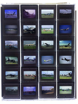 24 x Original 35mm Slides in Plastic Protective Case - Various Aircraft - LOT 15