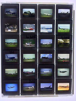 24 x Original 35mm Slides in Plastic Protective Case - Various Aircraft - LOT 3