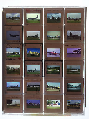 24 x Original 35mm Slides in Plastic Protective Case - Various Aircraft - LOT 19