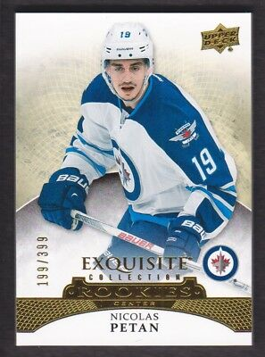 2015-16 Exquisite Collection #R-24 Nicolas Petan RC 199/399 Winnipeg Jets