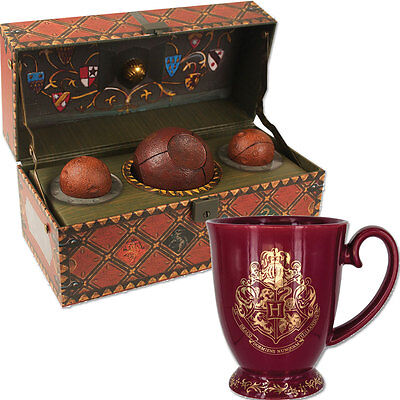 NEW (Set) Harry Potter Collectible Quidditch Kit And Hogwarts Coffee Cup Mug