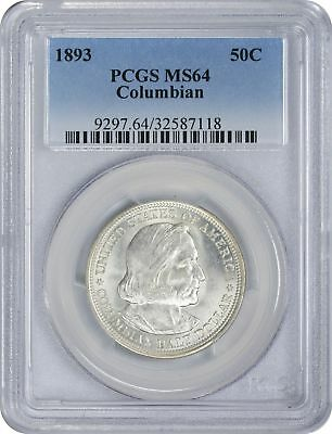 1893 Columbian Commemorative Half MS64 PCGS Mint State 64