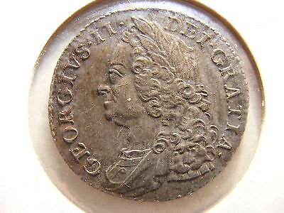 Great Britain 1758 Silver 1 Shilling, XF+, 250+ Years OLD - OWN BRITISH HISTORY