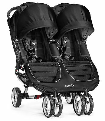 Baby Jogger City Mini Double Twin Stroller Black / Gray NEW 2016