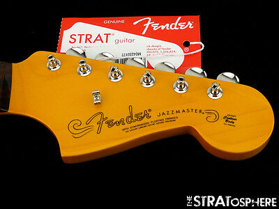 Fender Vintage 60s LACQUER Jazzmaster NECK + TUNERS Rosewood Gloss Nitro