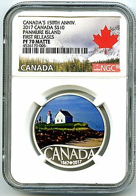 2017 $10 Canada 150Th Silver Proof Ngc Pf70 Panmure Island First Releases