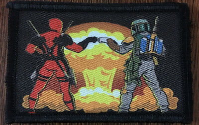 Nuclear Boba Fett Deadpool Morale Patch Funny Tactical ARMY  Military Star Wars