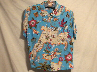 Loco Lindo Vintage Florida Print Shirt Size M - Great Colors