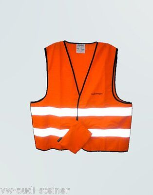 WOW Original VW Volkswagen Signal Vest High Visibility for Adults Orange