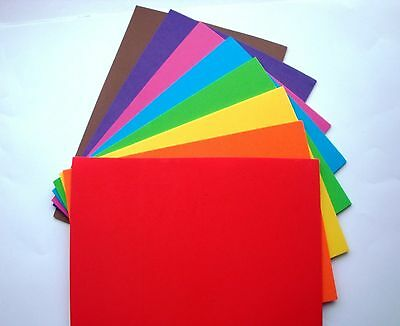 8 x A5 CRAFT FOAM SHEETS - 2mm THICK - PRETTY BRIGHT COLOURS - Dovecraft