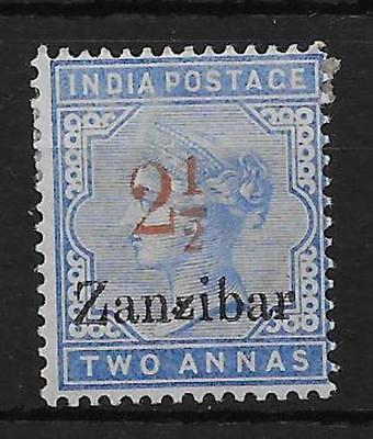 ZANZIBAR SG27D 1896 2½ ON 2a PALE BLUE SMALL 2nd Z VAR MTD MINT