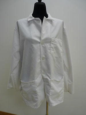 "Medline Medical Scrub Unisex Full Length Lab Coat 30"" White 3 Sizes 32, 34, 46"