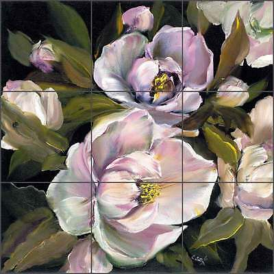 Cook Magnolia Flower Floral Art Ceramic Tile Mural Backsplash CC009