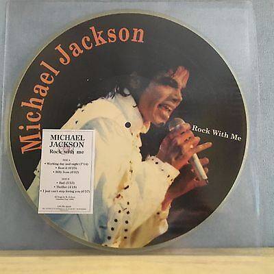 MICHAEL JACKSON Rock With Me 1989 Italian Vinyl Picture Disc LP Live in Canada