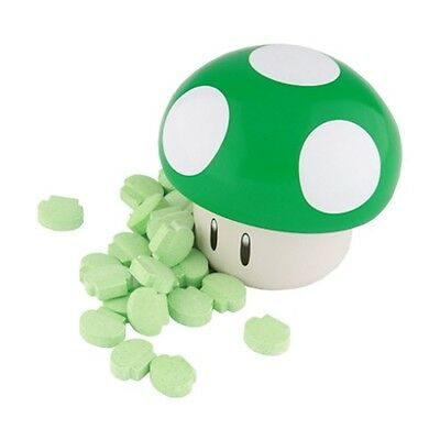 New Super Mario Brothers Green Mushroom Candy Tin [Apple Sours], New
