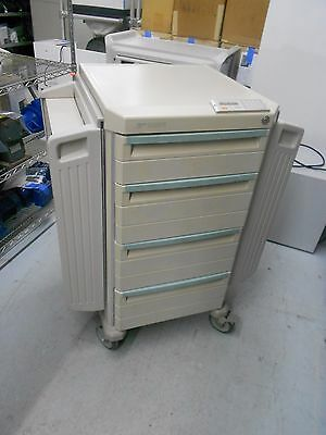 Metro Starsys 4 Drawer Butterfly Medical Supply Crash Cart W/ Lock Control Panel