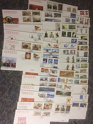 CHINA CHINE STAMPS SELECTION No 01 OF OFFICIAL FIRST DAY COVERS X 50 BUY IT NOW