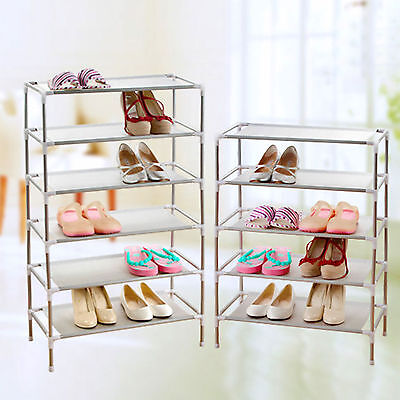 8 Tier Shoe Storage Rack Stand Organiser Cabinet Shelf Easy Assemble f/ 24 Pairs