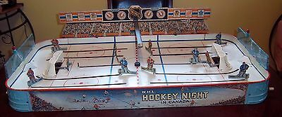 Eagle Hockey Night In Canada  hockey game 1962 with score board and puck drop