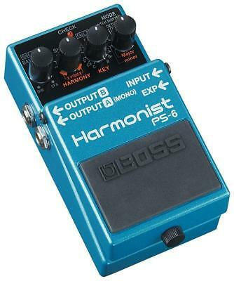 Boss PS-6 Harmonist  Pedal - 4 intelligent pitch-shift effects & 3 voice harmony