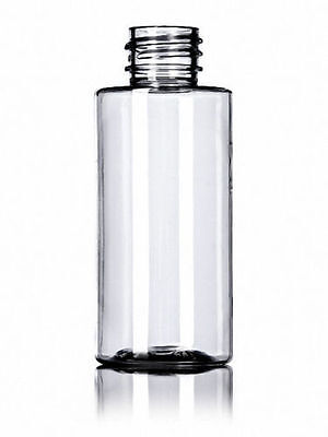 2 oz (60 ml) Clear Plastic Cylinder Round  Bottles w/Caps (Lot of 50)