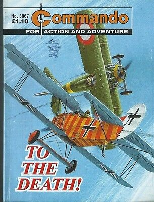 To The Death,commando For Action And Adventure,no.3867,war Comic,2005