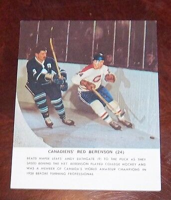 Toronto Star 1964-65 Red Berenson Montreal Canadians Stars in Action lot 4