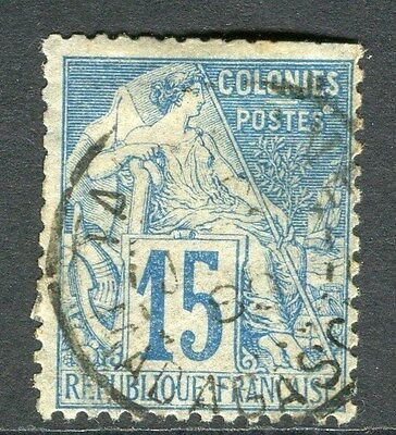 FRANCE;  COLONIES 1881 early classic issue fine used 15c. value