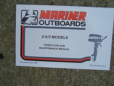 1994 MERCURY MARINER 8 / 9.9 HP 4-Stroke Outboard Motor ... on