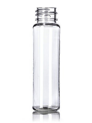 1 oz (30 ml) CLEAR Plastic Cylinder Round (SLIM) Bottles w/Caps (Lot of 100)