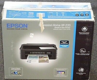 Epson Xp-220 All In One Printer Wireless/print/copy/scan