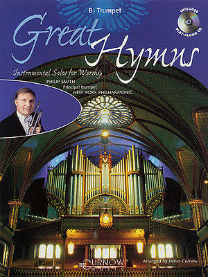 Great Hymns Trumpet Solo Christian Sheet Music Play-Along Book CD Pack NEW