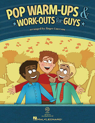 Pop Warm-Ups & Work-Outs for Guys Male Singer Choir Music Classroom Book NEW