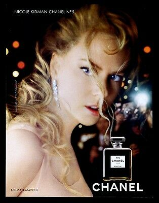 2004 Chanel No.5 perfume Nicole Kidman photo vintage print ad