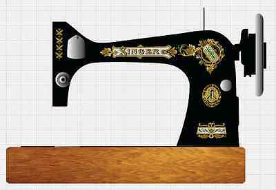 Singer Model 27 VS2 Victorian Style  Sewing Machine  Restoration Decals