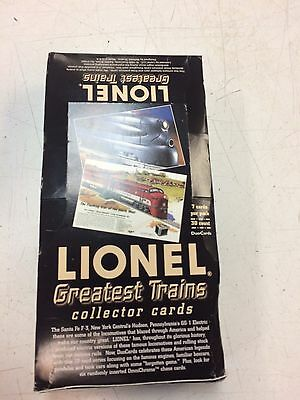 Duo Cards Lionel Greatest Trains Collector Cards 30 sealed pkgs w/ dealer box!