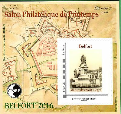 Timbre Bloc Cnep N° 71  Salon Philatelique Printemps Belfort 2016