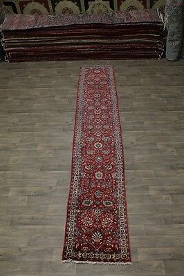 Excellent Palace Size Runner Sarough Arak Persian Rug Oriental Area Carpet 3X17