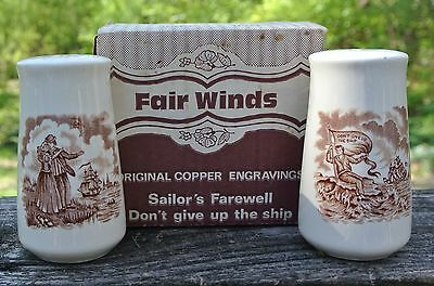 Alfred Meakin Staffordshire China Fair Winds Salt And Pepper