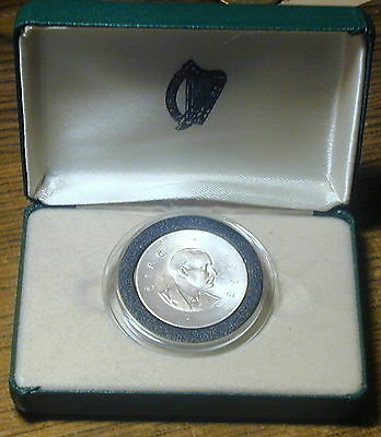 Ireland :   Ten Shilling Coin 1966 .  P.h. Pearse.. In  Presentation Case.