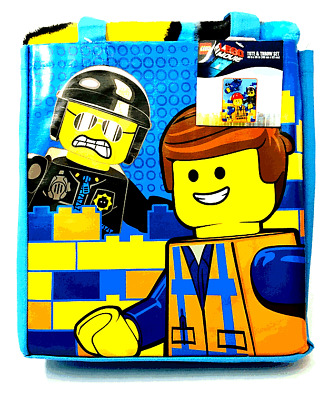 NEW The Lego Movie Tote & Blanket Throw Set 40x50 Polyester Police Construction