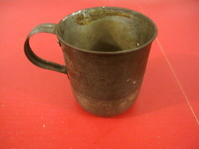 Span-Am War US Army Pat. 1874 Soliders Tin Mess Drinking Cup - MNG Marked - #2