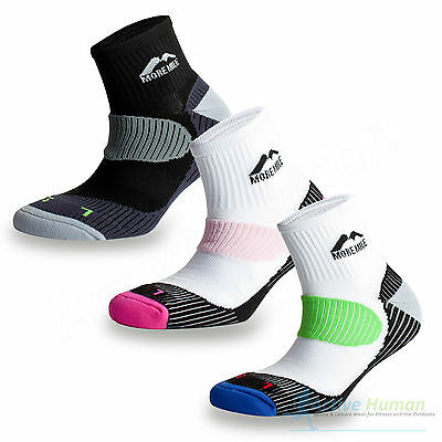 3 Pairs More Mile London Running Socks Sports Cushioned Padded Mens Ladies