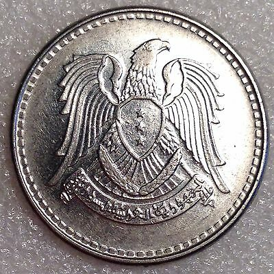 Syria 1 Pound AH1387/1968  Larger Nickel Coin!