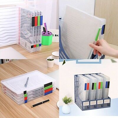 A4 Document Case Files Plastic Storage Box Holder Paper Office School Organizer
