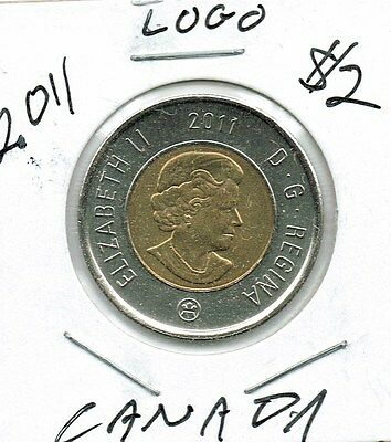 2011 Canadian Brilliant Uncirculated $2 Toonie coin!