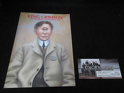 King Crimson 2015 Japan Tour Book Concert Program w Ticket Robert Fripp Elements