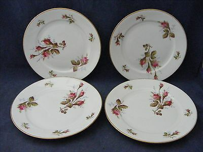 4 Rosenthal Moss Rose Bread Plates Red Roses Mint Condition