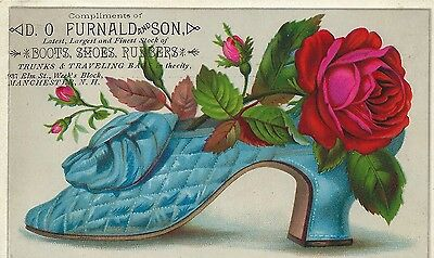Advertising Trade Card ~ D. O. Furnald & Son ~ Boots ~ Shoes & Rubbers ~ N.H.